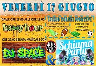 dj space e schiuma party rugbeer fest segusino