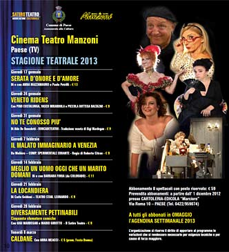 stagione teatrale 2013